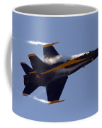 Blue Angel 4 Pulling A Vapor Trail Into The Empty Air... Coffee Mug