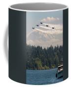 Blue Angels Over Lake Washington Coffee Mug