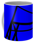 Blue Angle Abstract Coffee Mug