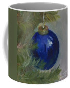 Blue Ball On Christmas Tree Coffee Mug