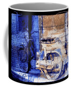 Blue Bike Abandoned India Rajasthan Blue City 2c Coffee Mug