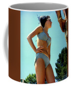 Blue Bikini Tattoo Hand Coffee Mug