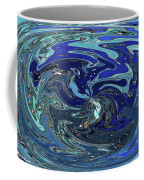 Blue Bird Abstract Coffee Mug
