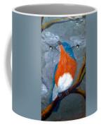 Blue Bird On Slate Coffee Mug