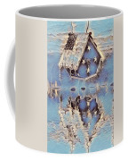Blue Birdhouse  Coffee Mug
