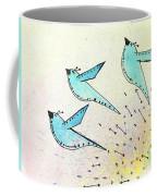 Blue Birds In Flight Coffee Mug