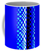Blue Black Pattern Abstract Coffee Mug