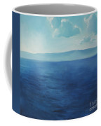 Blue Blue Sky Over The Sea  Coffee Mug
