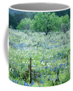 Blue Bonnets,poppies And Willow Tree 2 Coffee Mug