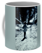 Blue Boy Walking Into The Future Coffee Mug