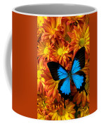 Blue Butterfly On Mums Coffee Mug