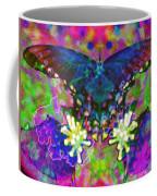 Blue Butterfly Pop Coffee Mug