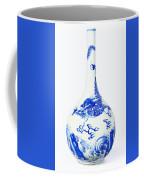 Blue  Chinese Chinoiserie Pottery Vase No 5 Coffee Mug