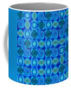 Blue Circles Abstract Art By Sharon Cummings Coffee Mug