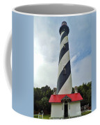 Blue Clouds At The Lighthouse Coffee Mug