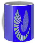 Blue Colored Metal Panel Tempe Center For The Arts Abstract Coffee Mug