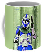 Blue Commander Stormtrooper At Work - Pa Coffee Mug