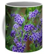 Blue Cottage Flowers Coffee Mug