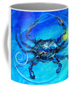 Blue Crab Abstract Coffee Mug