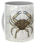 Blue Crab Coffee Mug by Charles Harden