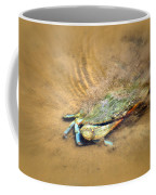 Blue Crab Hiding In The Sand Coffee Mug