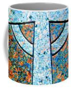 Blue Marbled Cross Coffee Mug