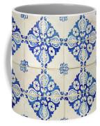 Blue Diamond Flower Tiles Coffee Mug