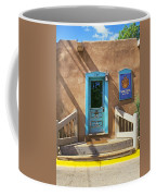 Blue Door On Canyon Road Coffee Mug