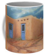 Blue Doors In Taos Coffee Mug by Jerry McElroy