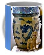 Blue Dragon And Hydrangeas Coffee Mug