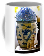 Blue Dragon And Hydrangeas Coffee Mug