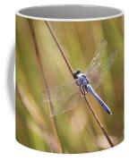 Blue Dragonfly Against Green Grass Coffee Mug
