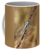 Blue Dragonfly Portrait Coffee Mug by Carol Groenen