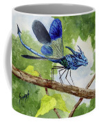 Blue Dragonfly Coffee Mug by Sam Sidders