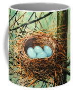 Blue Eggs In Nest Coffee Mug
