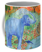 Blue Elephant Squirting Water Coffee Mug