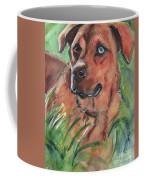 Blue Eyed Dog Coffee Mug