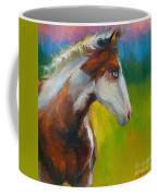 Blue-eyed Paint Horse Oil Painting Print Coffee Mug