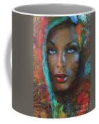 Blue Eyes Dark Oriental Coffee Mug
