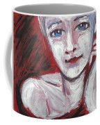 Blue Eyes - Portrait Of A Woman Coffee Mug