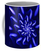 Blue Fantasy Floral Coffee Mug