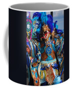 Blue Feather Carnival Costume Full Coffee Mug