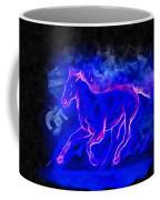 Blue Fire Horse - Da Coffee Mug