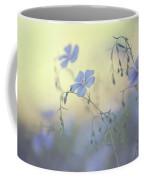 Blue Flex Flower. Nostalgic Coffee Mug