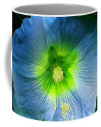 Blue Flower In Morning Sun Coffee Mug
