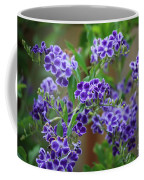 Blue Flowers Card Coffee Mug