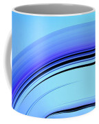 Blue Fractal Art Curved And Elegant Coffee Mug