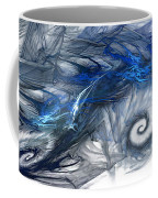 Blue Fractal Storm Coffee Mug