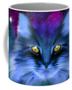 Blue Ghost Cat Coffee Mug