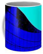 Blue Glass Abstract Coffee Mug